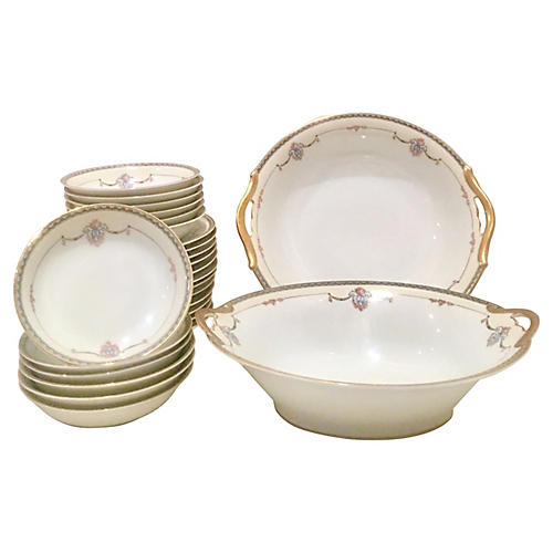 Japanese Porcelain Dinnerware, 25 Pcs