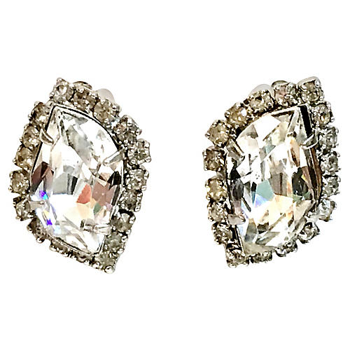 1960s Weiss Crystal Earrings