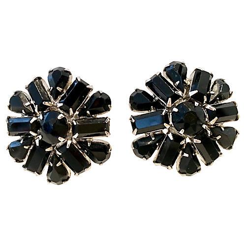 1960s Weiss Floral Earrings