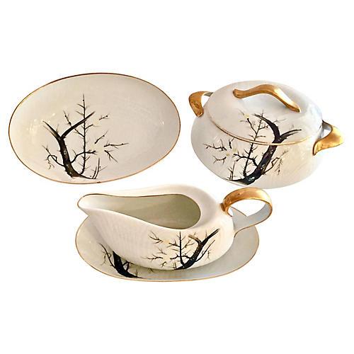 1950s Japanese Porcelain Set, S/5