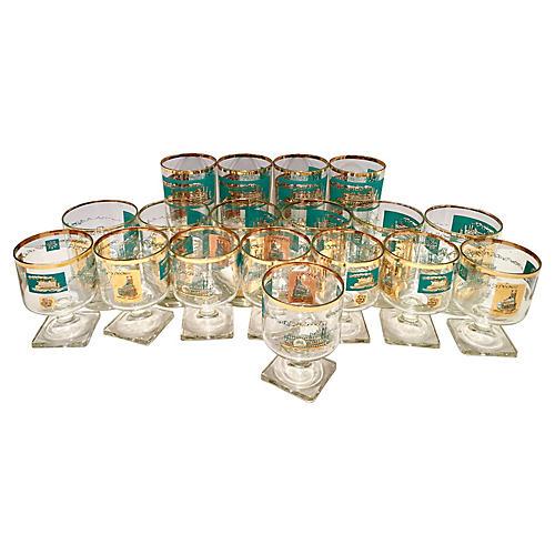 Steamboat Glasses, S/18
