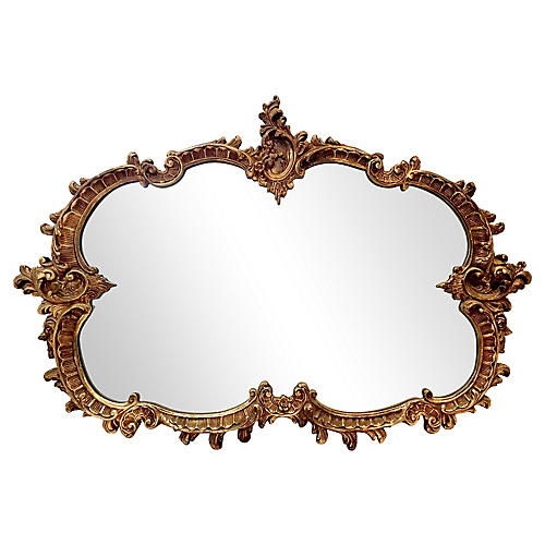 Baroque-Style Gilt Mirror