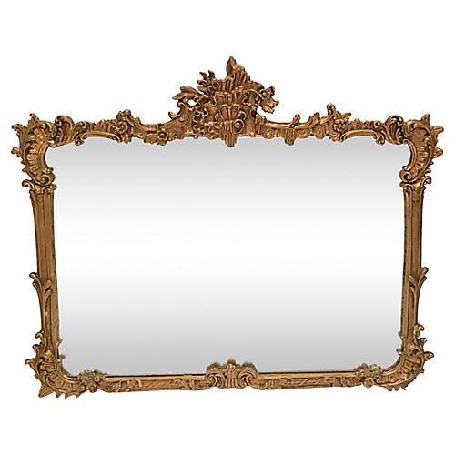 Antique Art Nouveau Giltwood Mirror