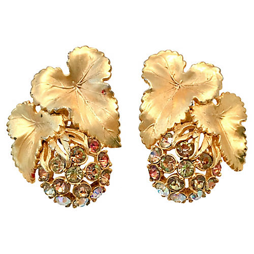 Schiaparelli Crystal Earrings