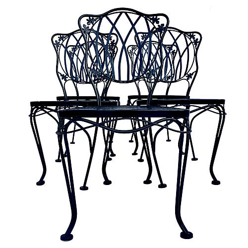 Iron Chairs by Woodard, S/5