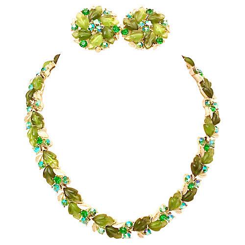 1950s Lisner Necklace & Earring Set
