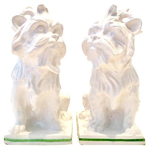 Italian Terrier Sculptures, Pair