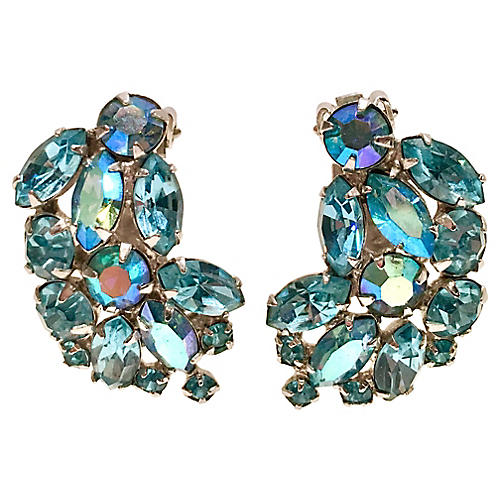 1960s Swarovski Crystal Weiss Earrings