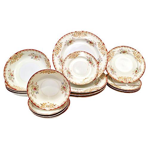 30'S Japanese Porcelain Dinnerware S/17