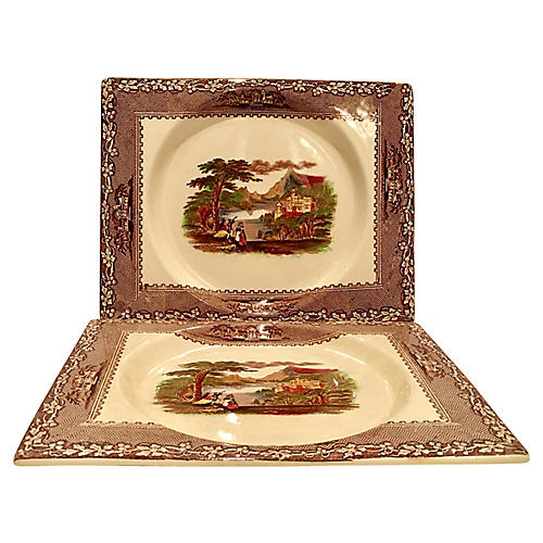 Royal Staffordshire Platters, Pair