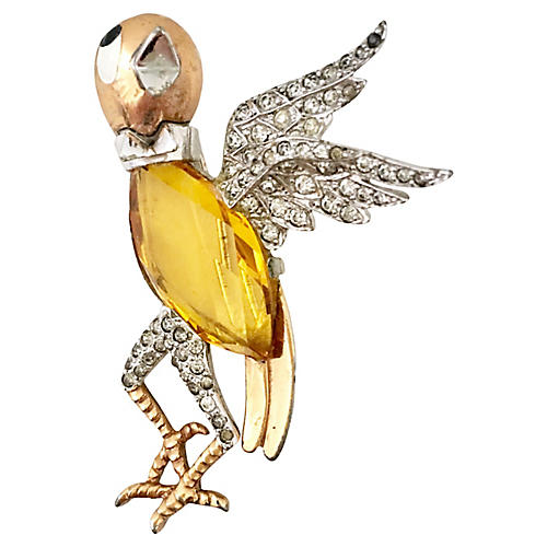 Citrine Boucher Bird Brooch