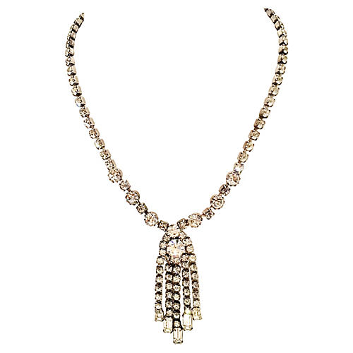 Weiss Silver & Crystal Necklace