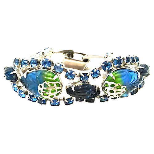 Silver Molded Glass Bracelet