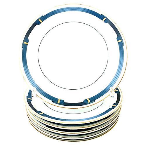 Christofle Limoges Dinner Plates, S/8
