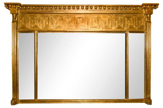 Greek Key Giltwood Mirror