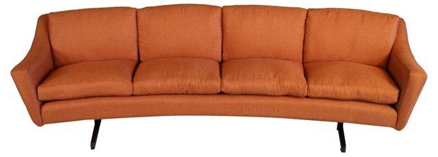 Orange Curved Sofa
