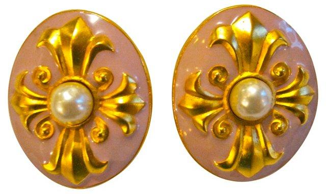Lagerfeld Fleur-De-Lis Earrings