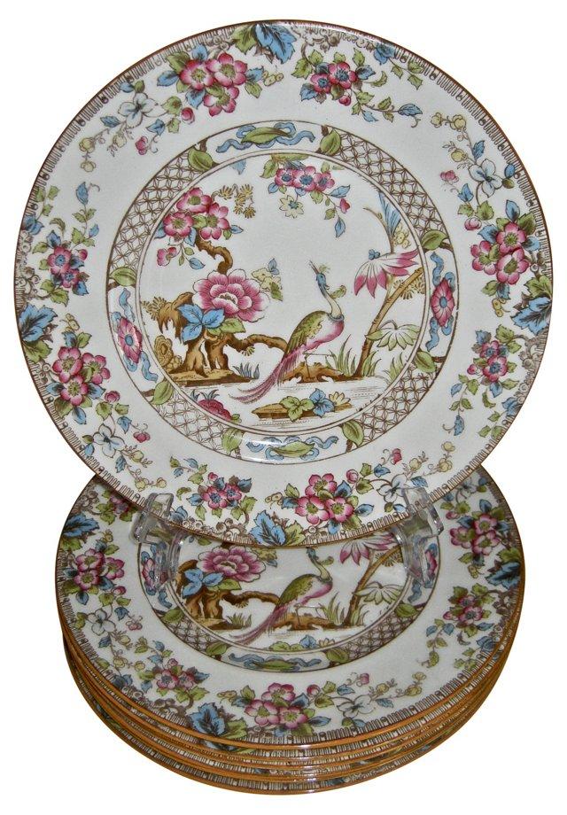 Chinoiserie Doulton Plates, Set of 8