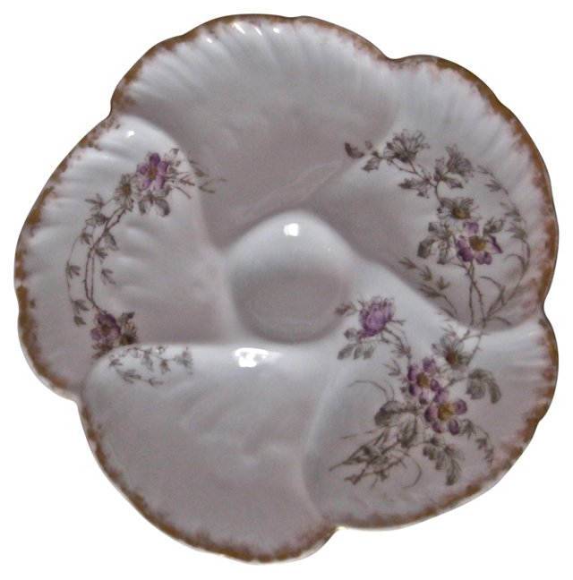 Limoges Antique Oyster Plate