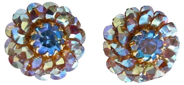 Midcentury Aurora Borealis Earrings