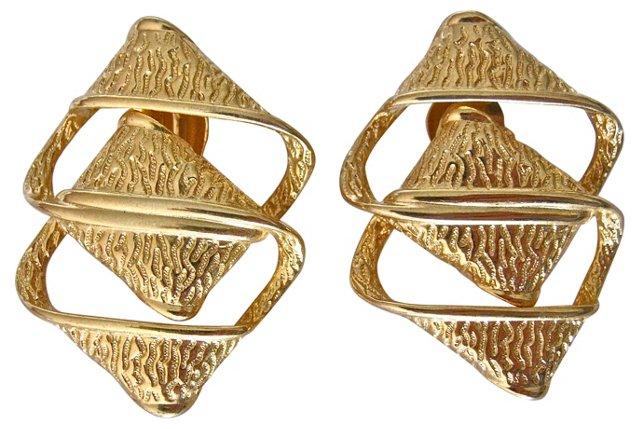 1980s Givenchy Geometric Earrings