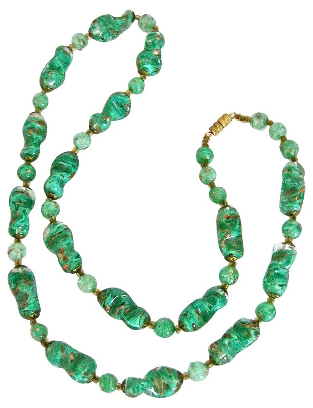 Murano Aventurine Glass Necklace