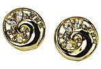Goldtone Rhinestone Earrings