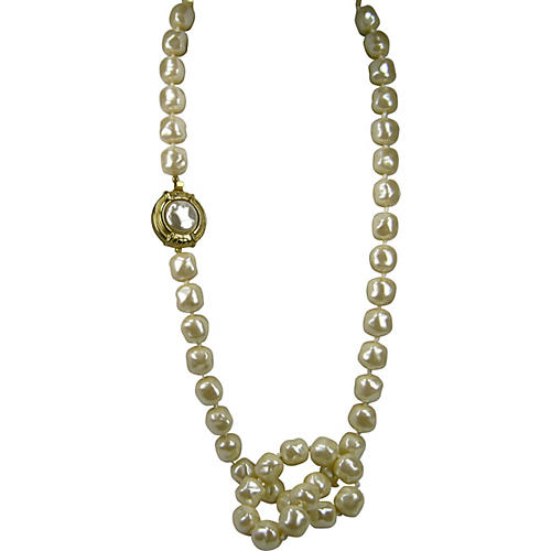 Givenchy Baroque Lucite Pearl Necklace