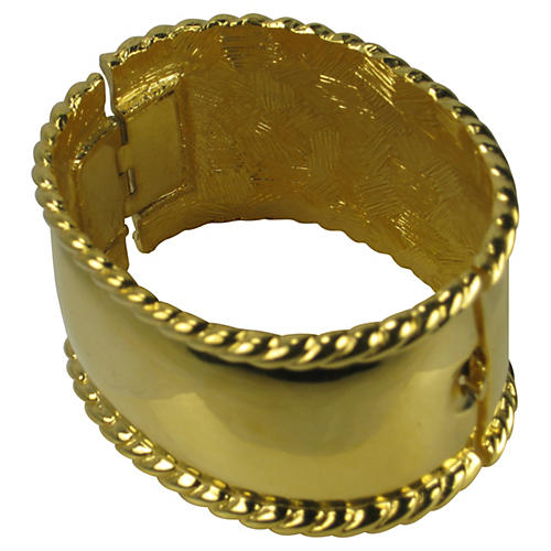 Givenchy Brilliant Gold Cable Cuff