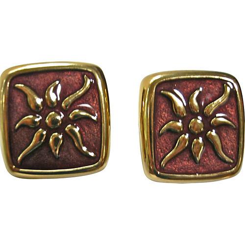 Givenchy Enamel Sunburst Earrings