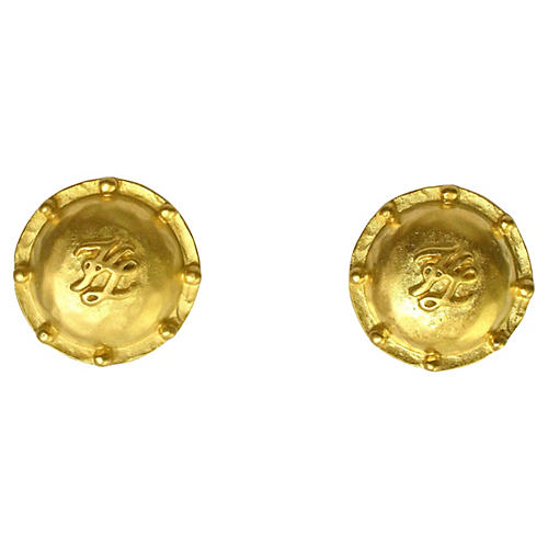 Karl Lagerfeld Matte Signature Earrings