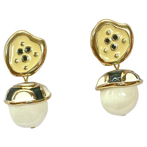 Givenchy Modernist Enamel Drop Earrings
