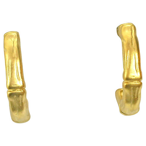 Givenchy Gold Bamboo-Style Earrings