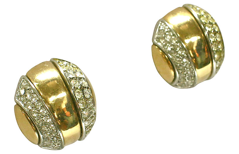 Givenchy Crystal Gold-Plate Earrings