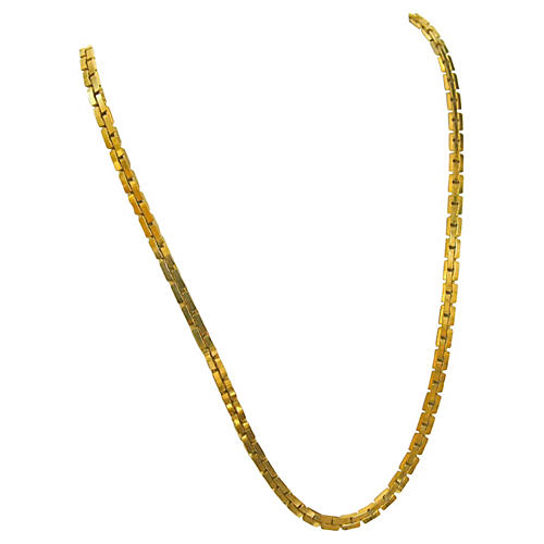 Givenchy Liquid Gold Track Link Necklace