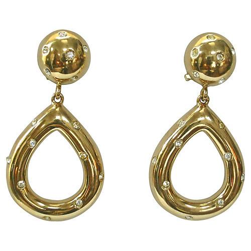 Givenchy Gold Starlight Knocker Earrings