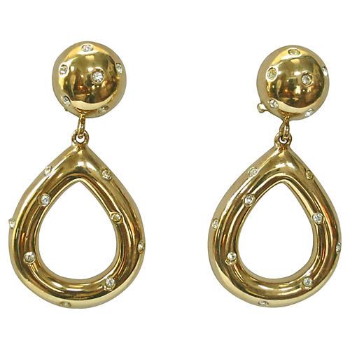 Givenchy Gold Starlight Knocker Earrings