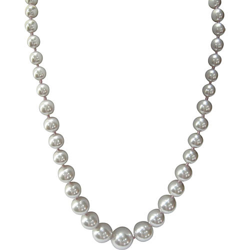 Graduated Hand-Knotted Pearl Necklace