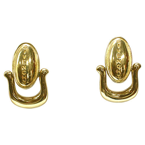 Givenchy Gold-Plated Signature Earrings