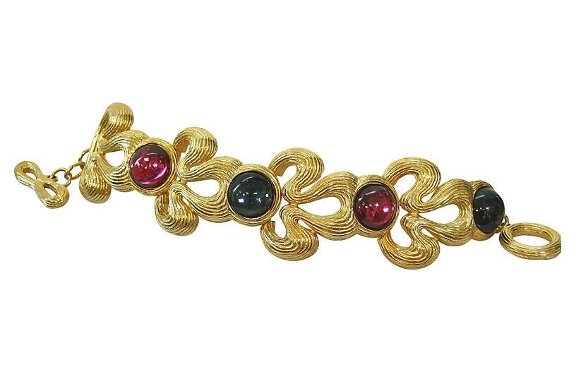 Givenchy Gripoix Gold-Plated Bracelet