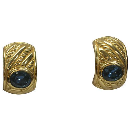 Christian Dior Sapphire Earrings