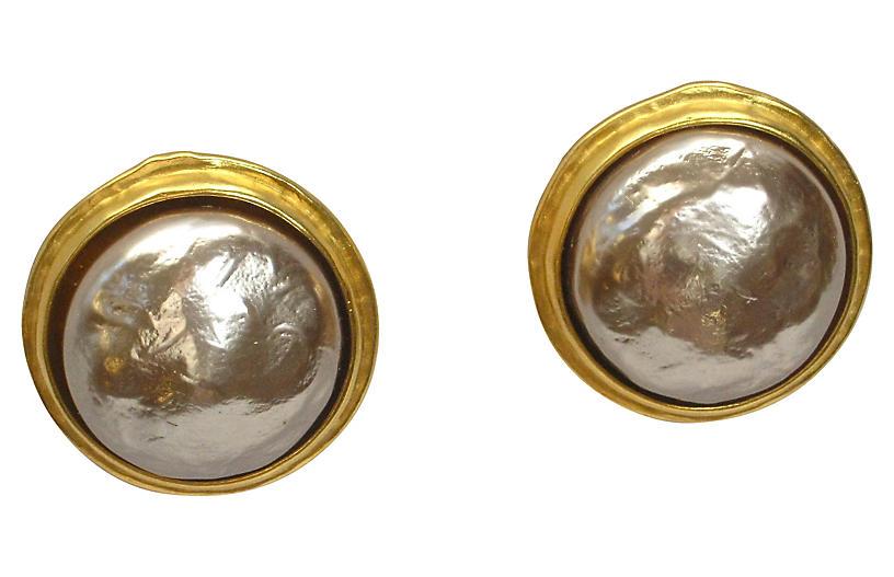 Lagerfeld Faux-Pearl Earrings