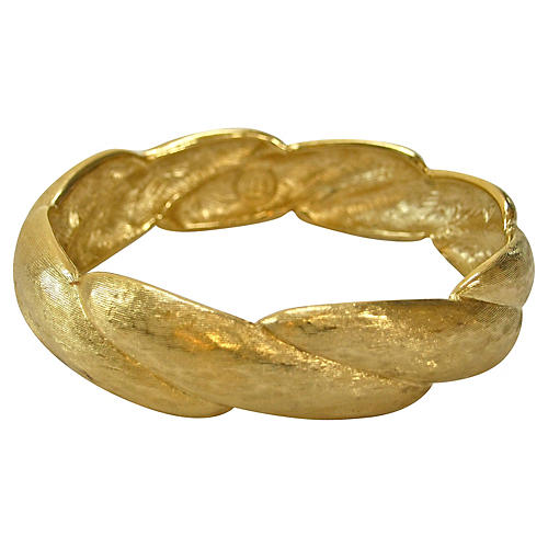 Givenchy Textured Gold-Plated Bangle