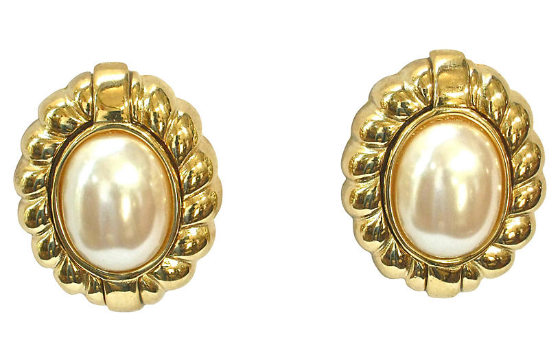 Givenchy Classic Gold-Plated Earrings