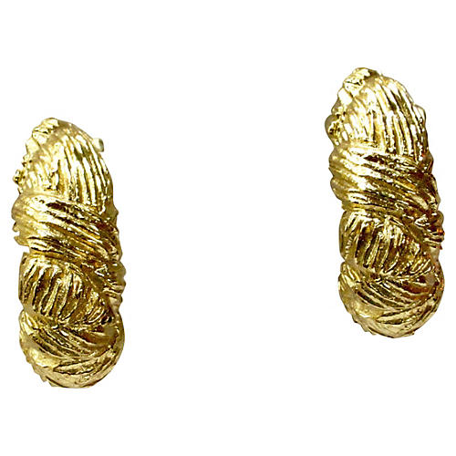 Givenchy Gold Plated Woven Earrings