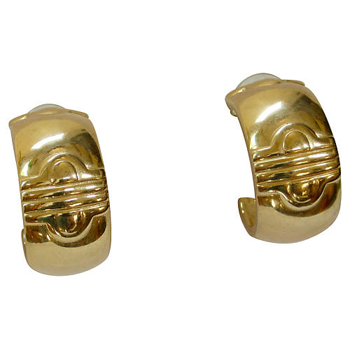 Givenchy Modernist Thick Gold Earrings