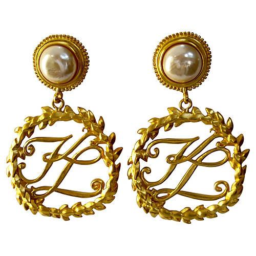Oversize Karl Lagerfeld Runway Earrings
