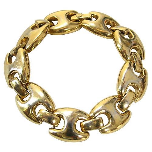 Chunky Givenchy Gold Plate Bracelet
