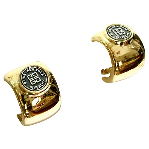 Givenchy Gold-Plated Coin Motif Earrings