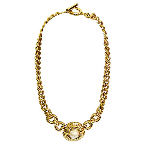 Givenchy Gold-Plated Faux-Pearl Necklace